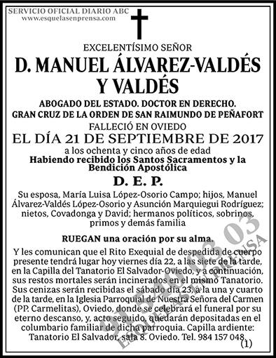 Manuel Álvarez-Valdés y Valdés